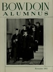 Bowdoin Alumnus Volume 27 (1952-1953)