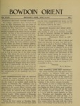 Bowdoin Orient v.48, no.1-26 (1918-1919) by The Bowdoin Orient