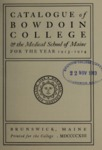 Bowdoin College Catalogue (1913-1914) by Bowdoin College