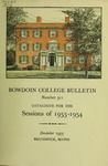 Bowdoin College Catalogue (1953-1954)