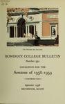 Bowdoin College Catalogue (1958-1959)