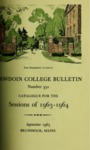 Bowdoin College Catalogue (1963-1964) by Bowdoin College