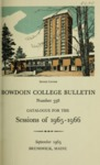 Bowdoin College Catalogue (1965-1966) by Bowdoin College
