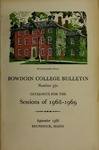 Bowdoin College Catalogue (1968-1969) by Bowdoin College