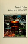 Bowdoin College Catalogue (1974-1975) by Bowdoin College