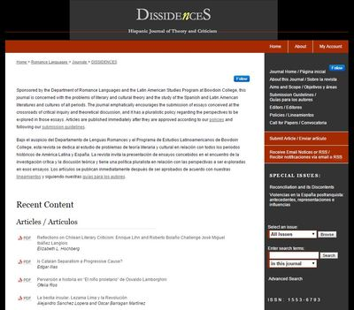 Dissidences: Open Access E-Journal Publishing